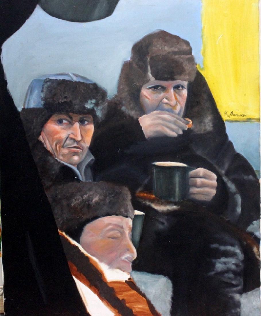 KONSTANTIN LOMYKIN (UKRAINIAN 1924 - 1992) Oil on