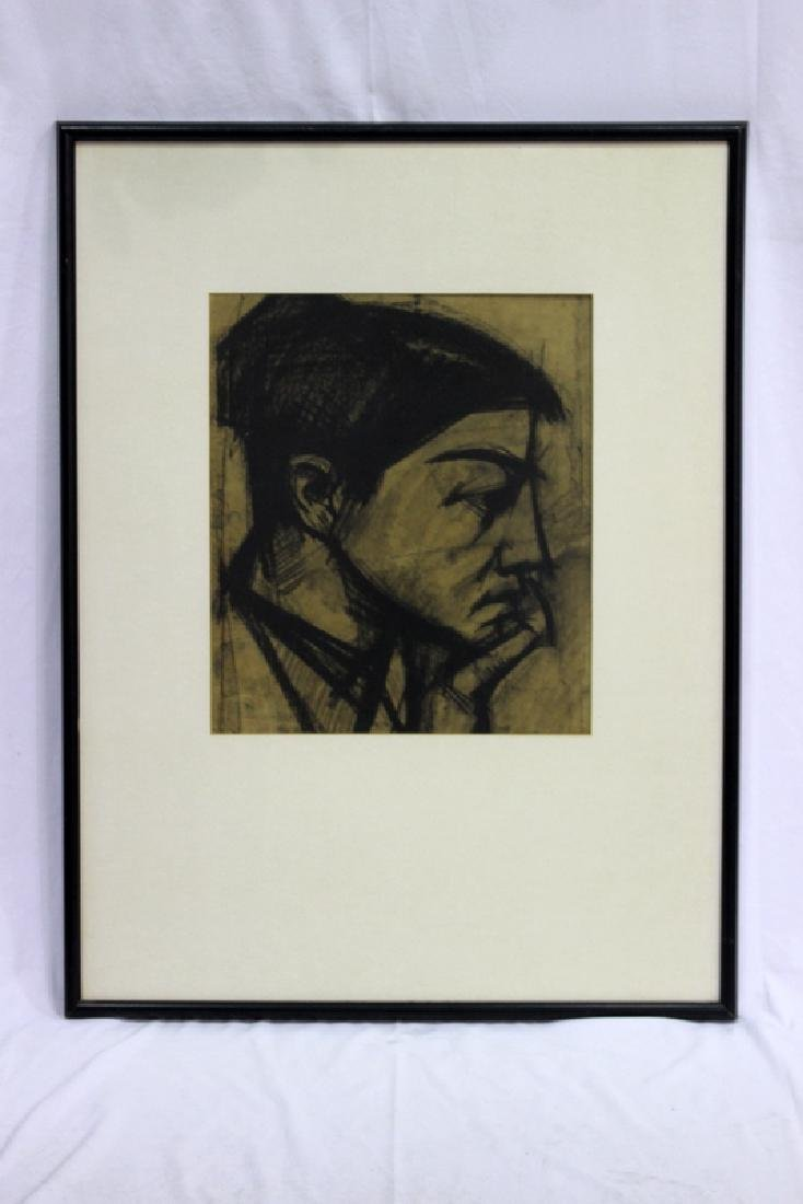 Gyula Konfar (Hungarian b 1923-2008) Portrait Drawing