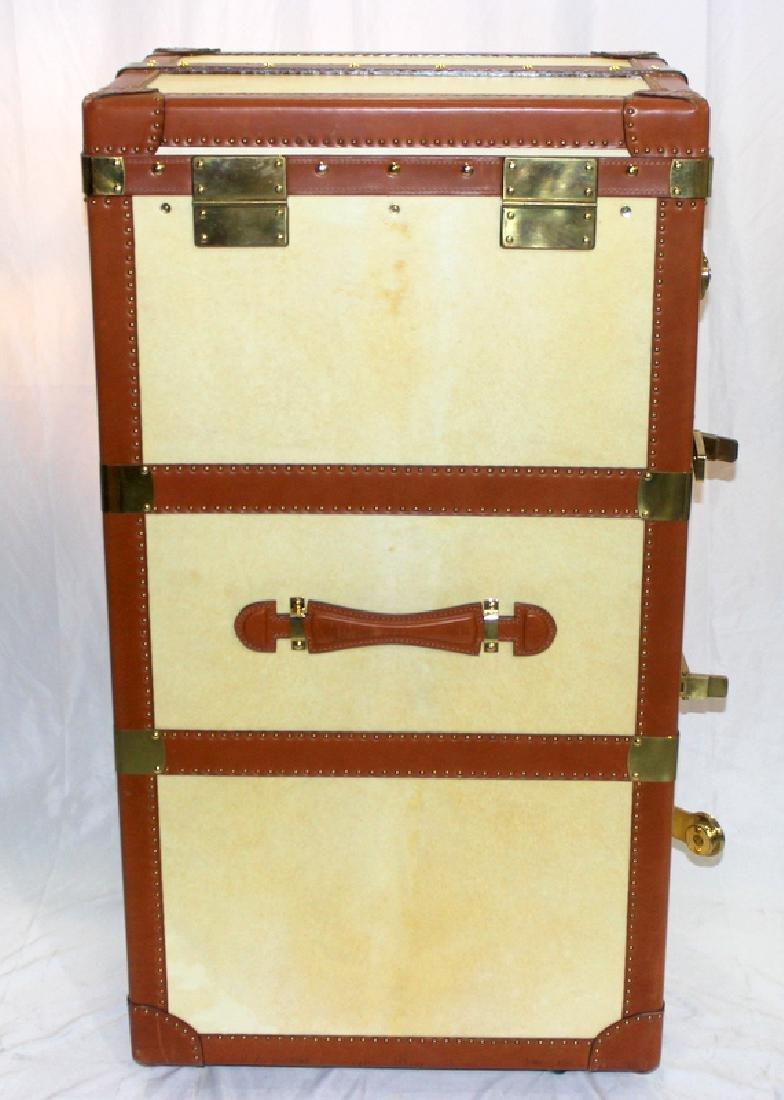 Bergdorf Goodman Mid-Century Leather Travel Trunk