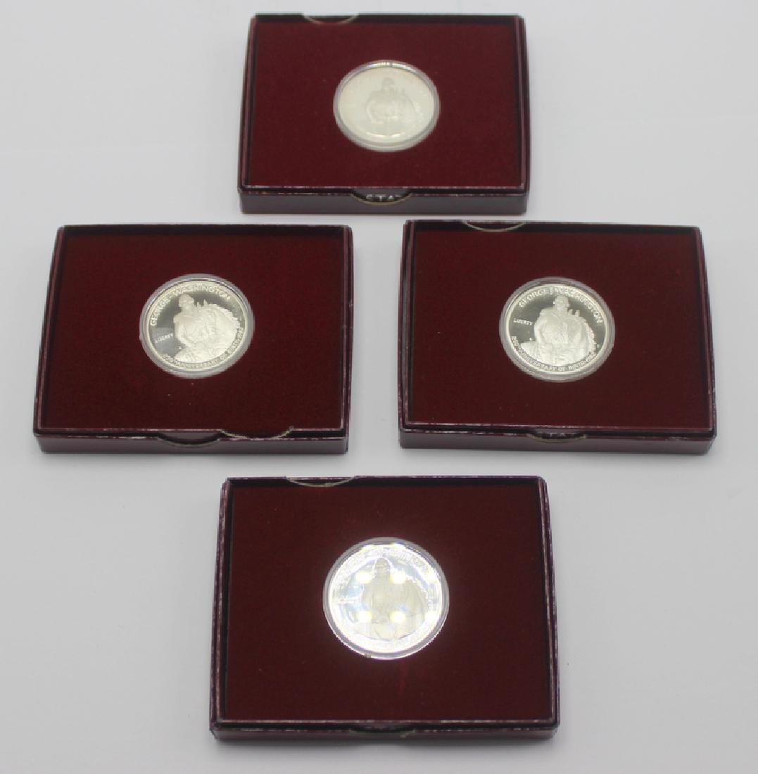 (4) George Washington Silver Commemorative Half-Dollar