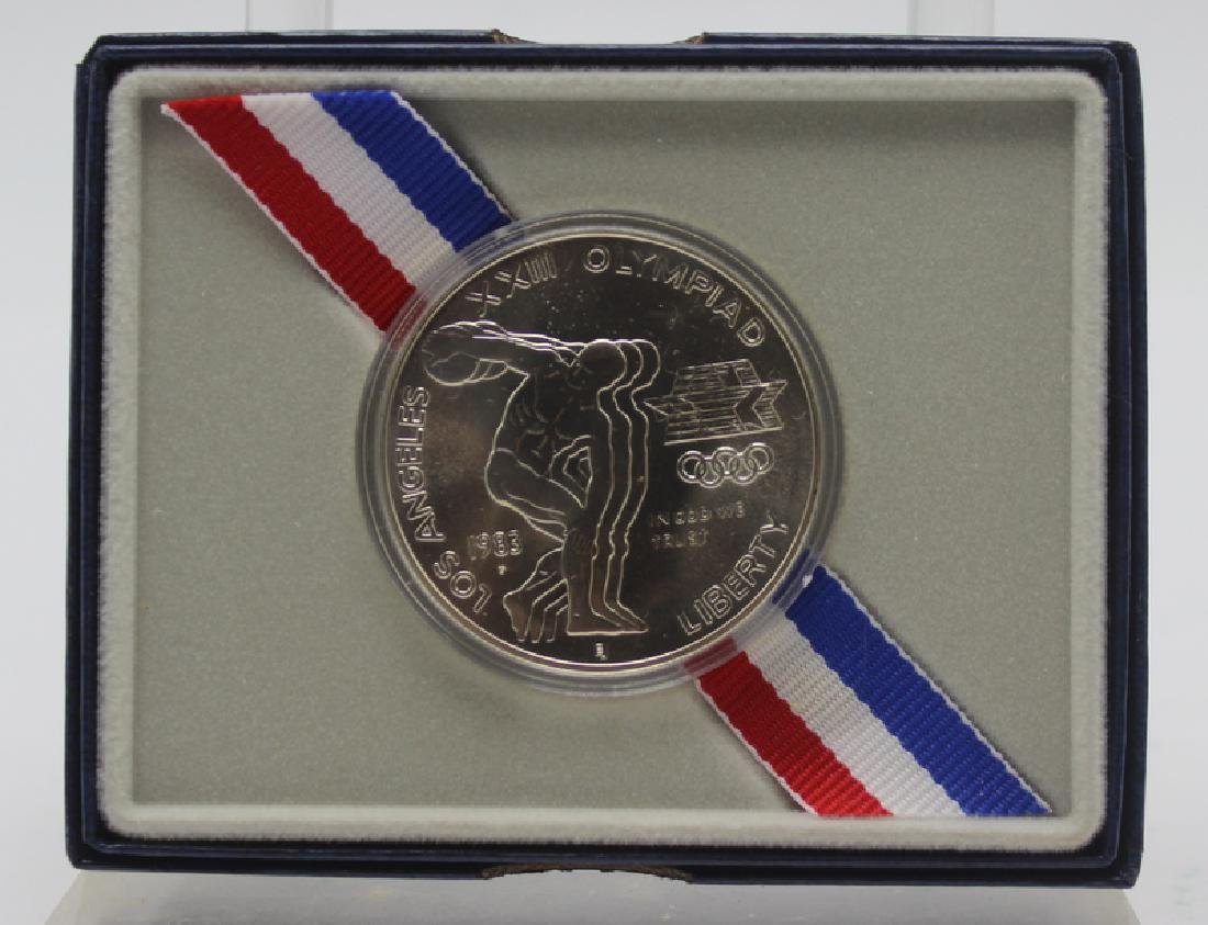 """1983 Uncirculated Olympic Silver Dollar """"P"""""""