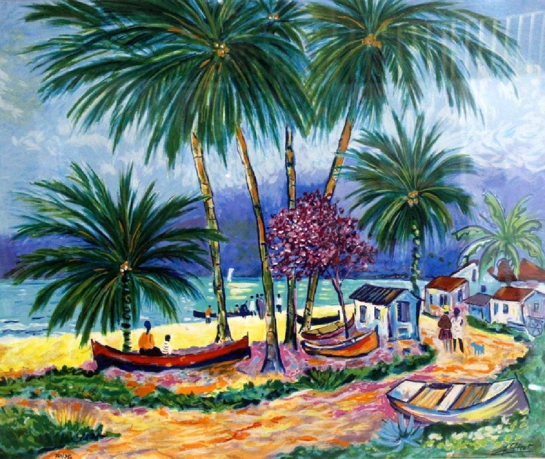 """J.Picot """"Del Aire"""" Oil on Canvas"""