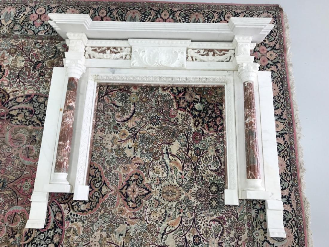 Impressive Adam Style Marble Column Fireplace Chimney