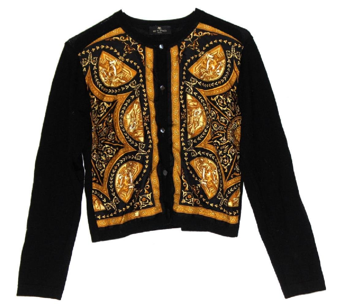 Etro Milano 100% Wool & Silk Top