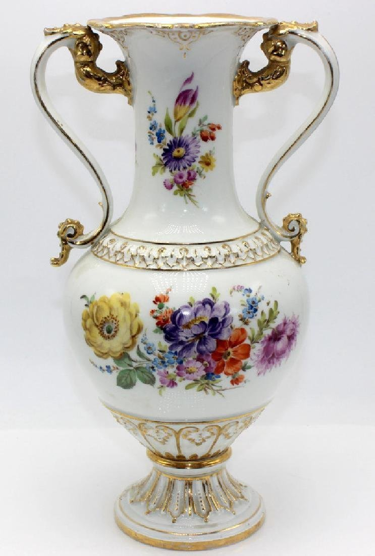 Meissen Hand Decorated Porcelain Two Handled