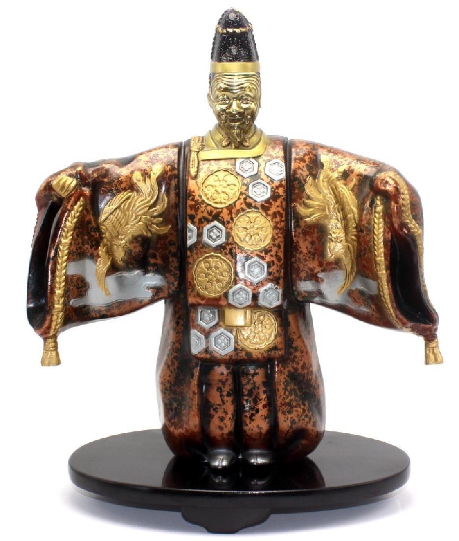 Antique Japanese Colored Bronze Figure