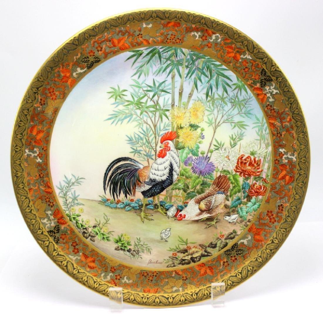 Pair of Bohem L.E. Porcelain Plates