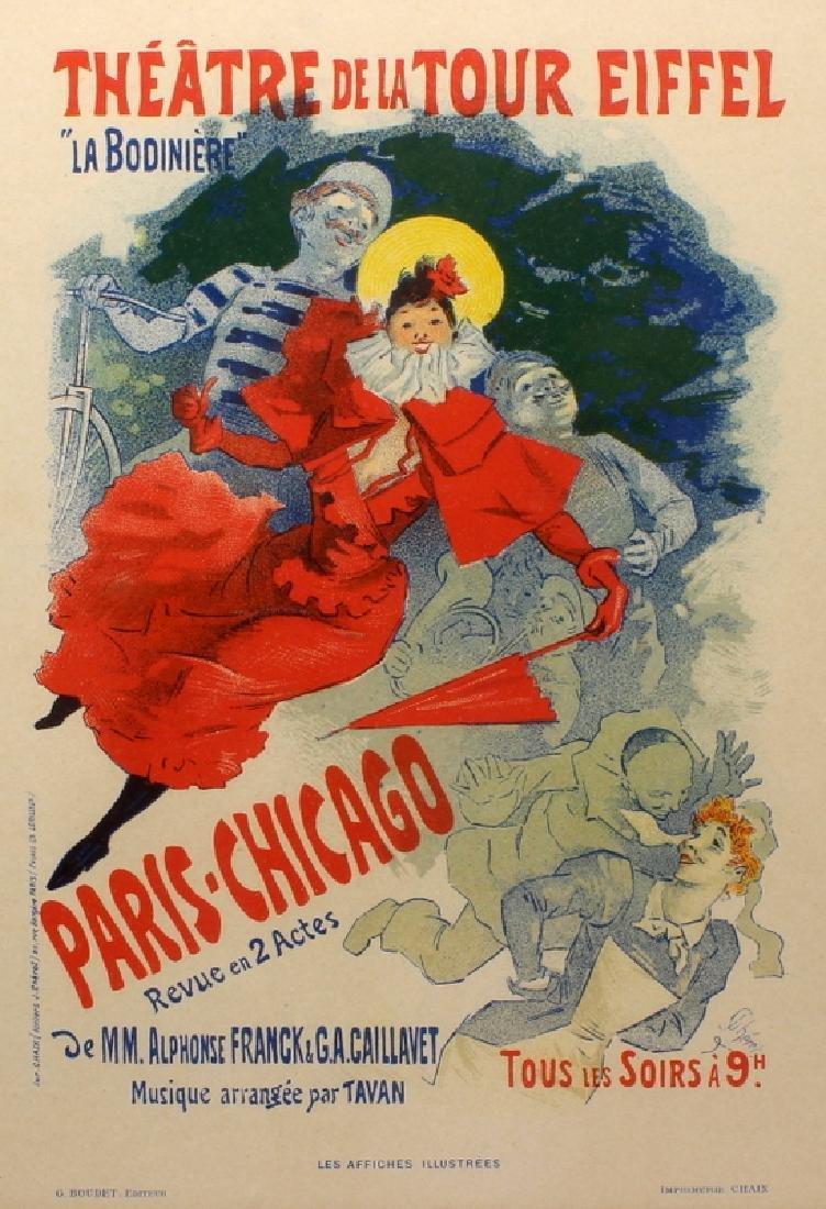 """Jules Cheret 1836, 1932 """"Theatre De La Tour Eiffel"""""""