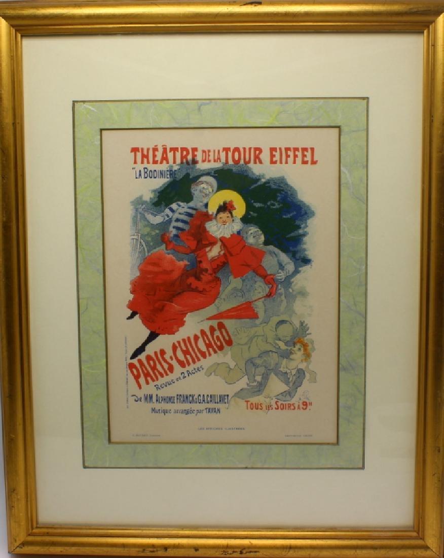 """Jules Cheret 1836, 1932 """"Theatre De La Tour Eiffel"""" - 2"""