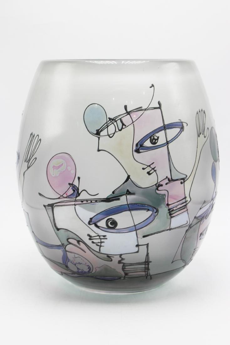 Ion Tamaian Art Glass Vase