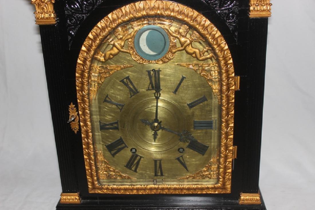 Antique English Bracket Moon phase Clock - 4