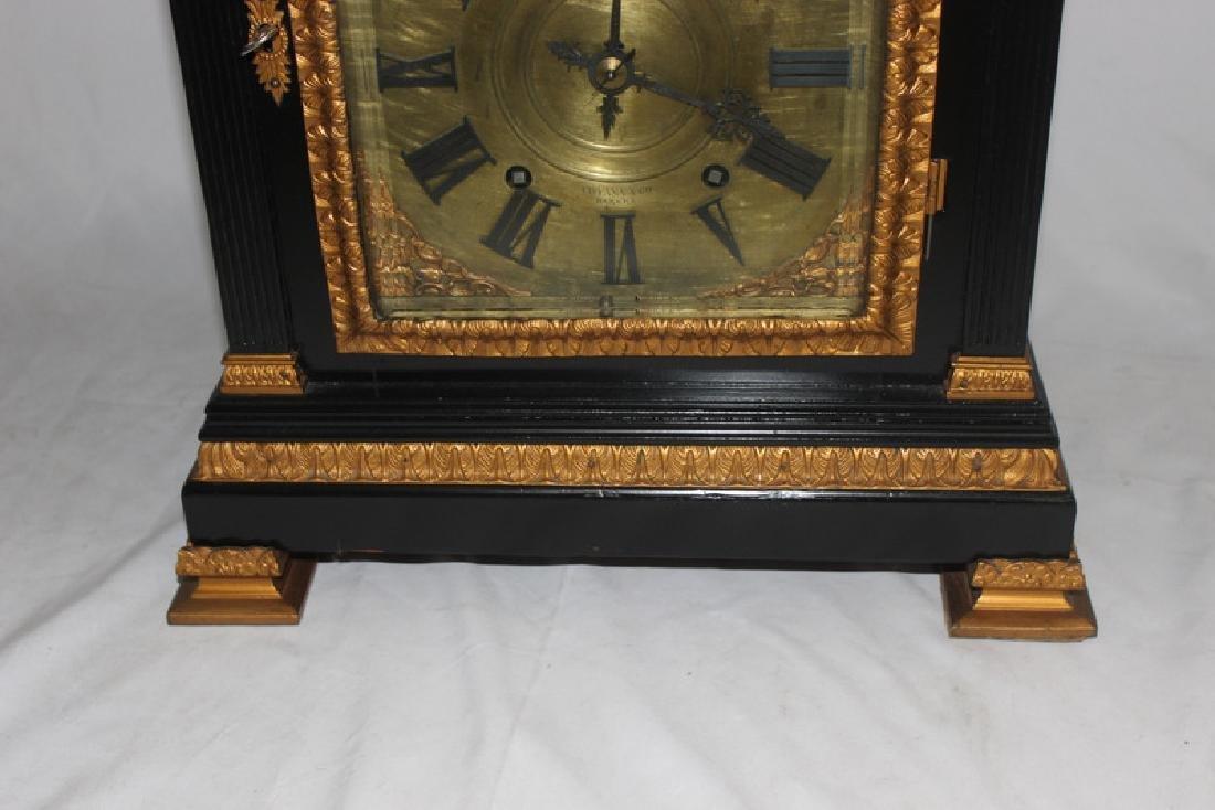Antique English Bracket Moon phase Clock - 5