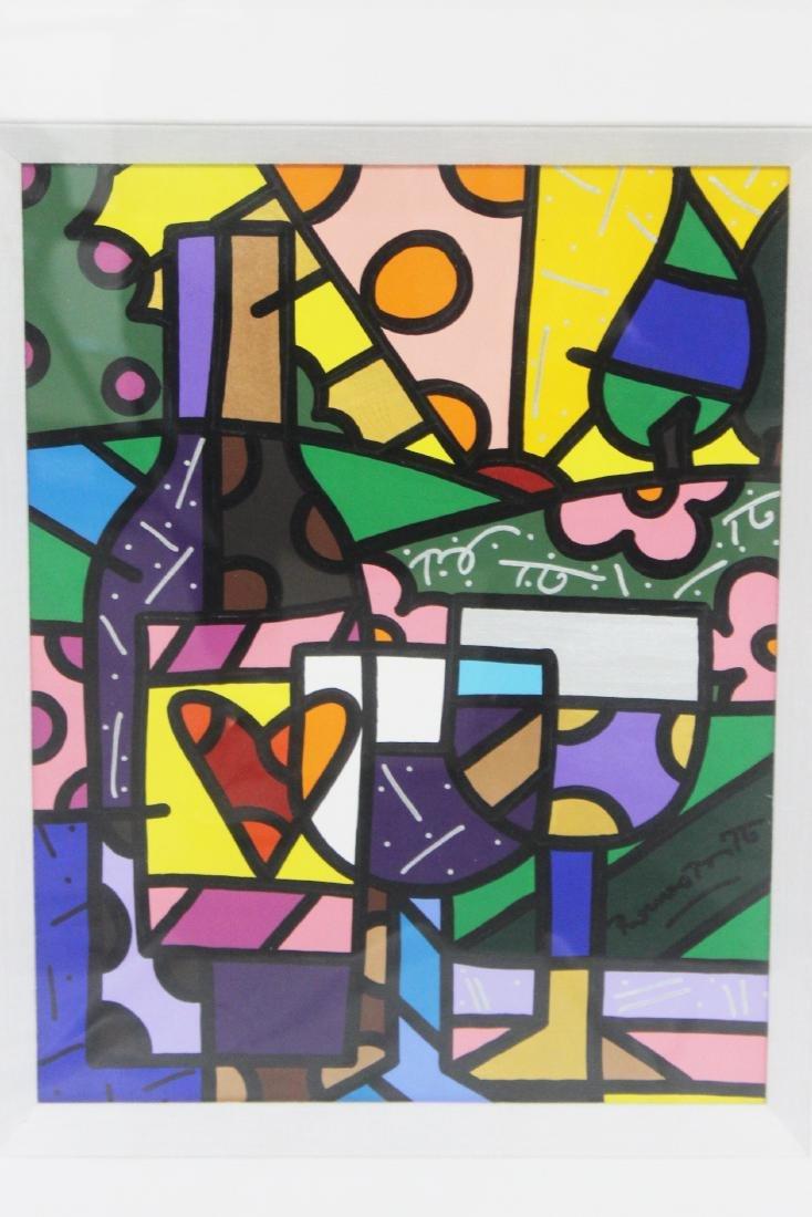 """Romero Britto (Brazilian, b.1963) """"New York Wine"""" - 2"""