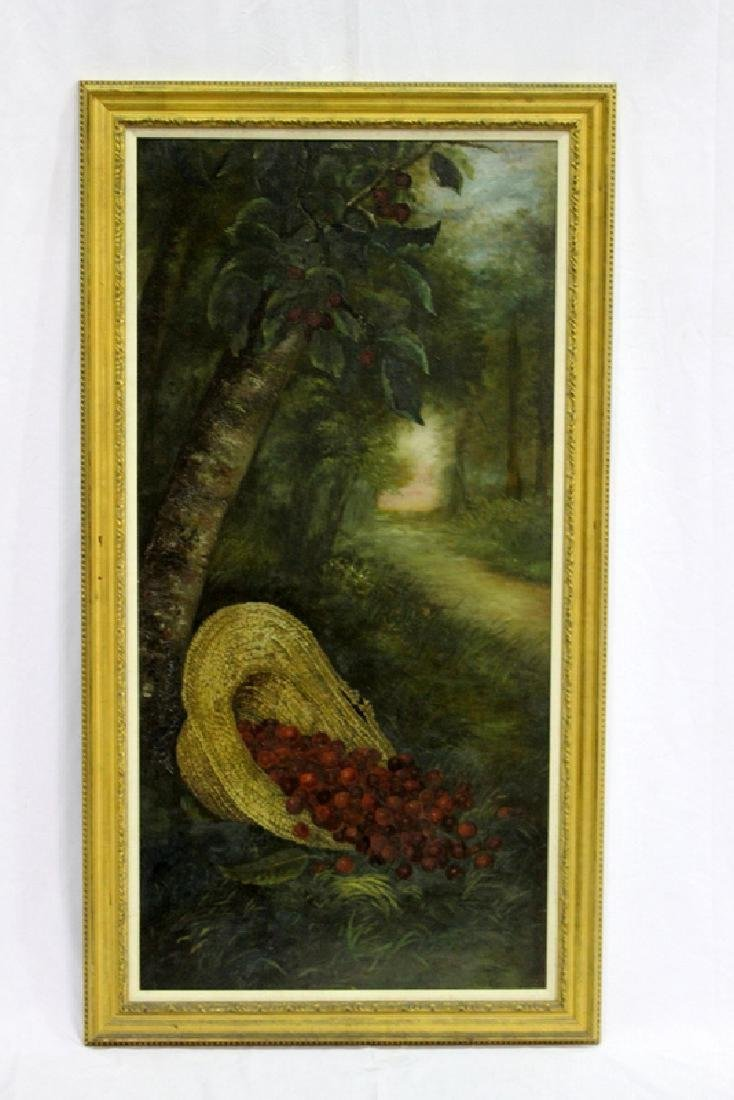 """Large Oil on Canvas Painting """"Cherries"""""""