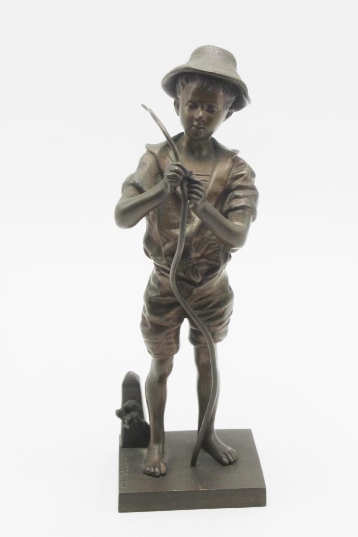 Adolphe Jean Lavergne Bronze Figure
