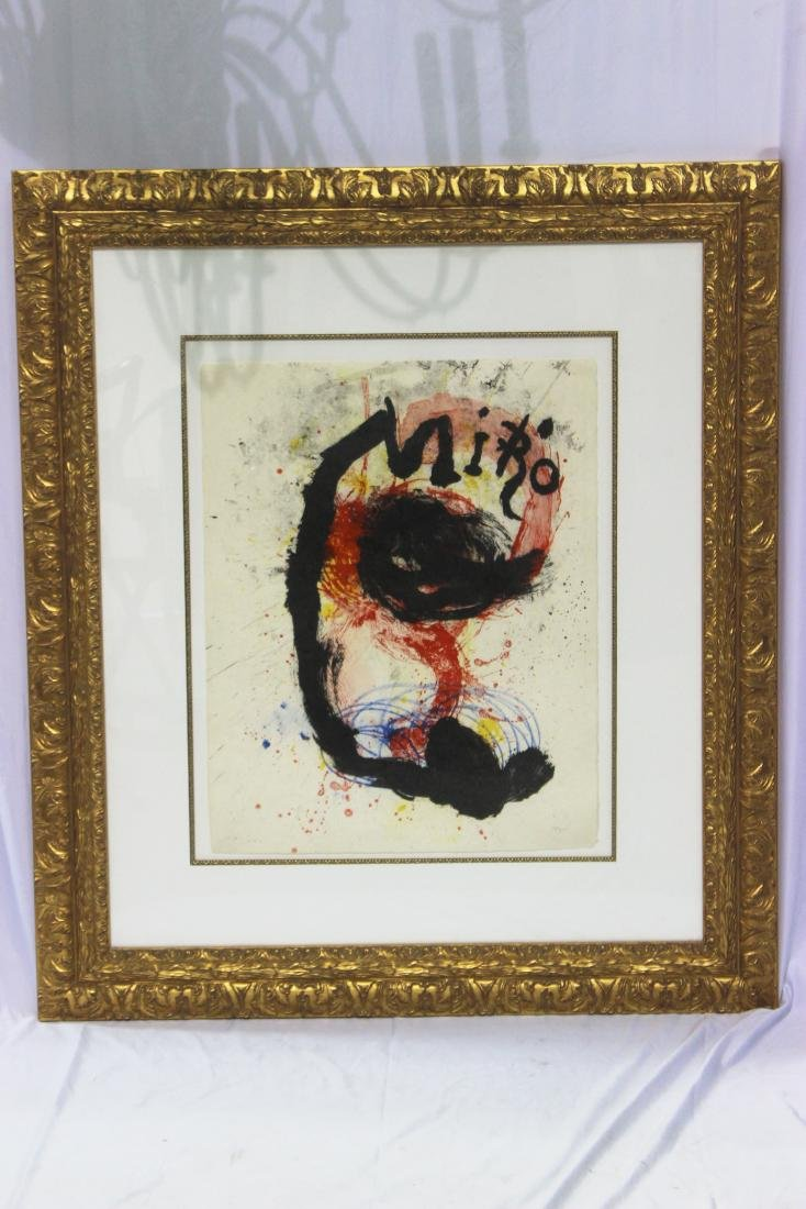 Joan Miro (Spanish, b.1893-1983) Lithograph in Color