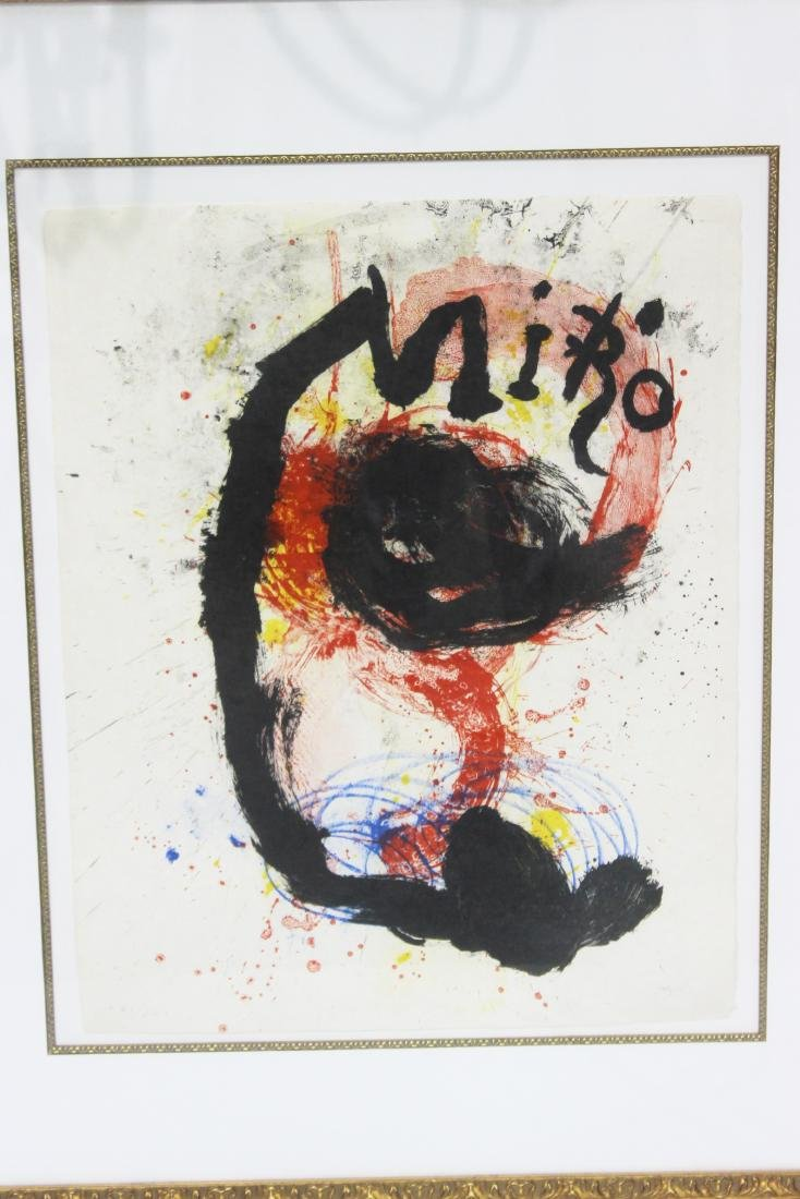 Joan Miro (Spanish, b.1893-1983) Lithograph in Color - 2