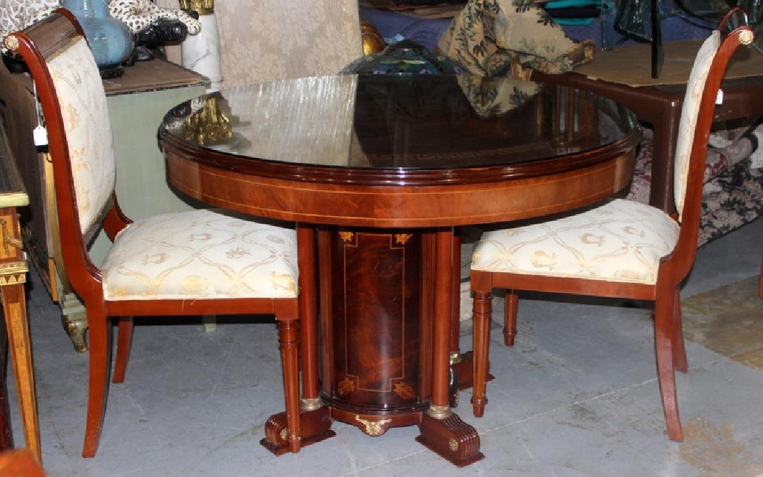 Versace Style Round Dining Table & (6) Chairs