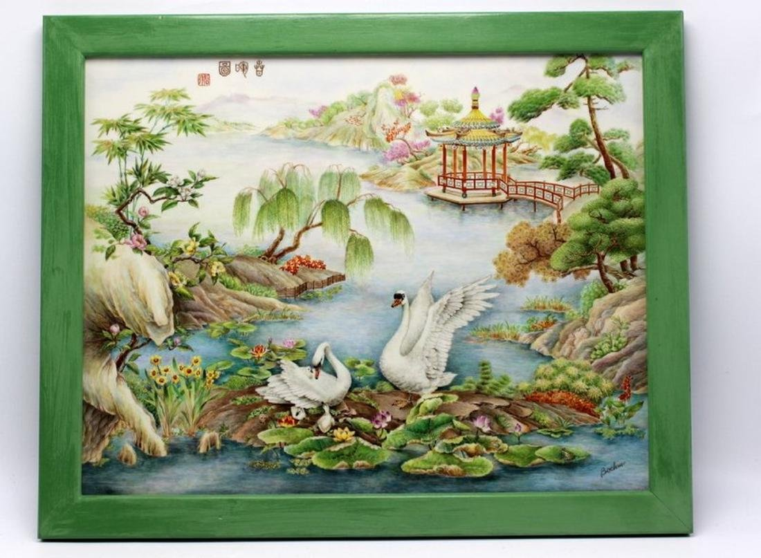 "Boehm ""The Glories of Spring"" Porcelain Plaque"