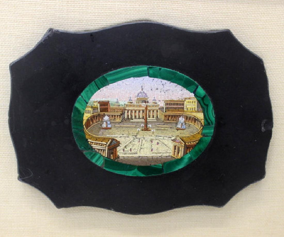 Micro Mosaic & Malachite Plaque