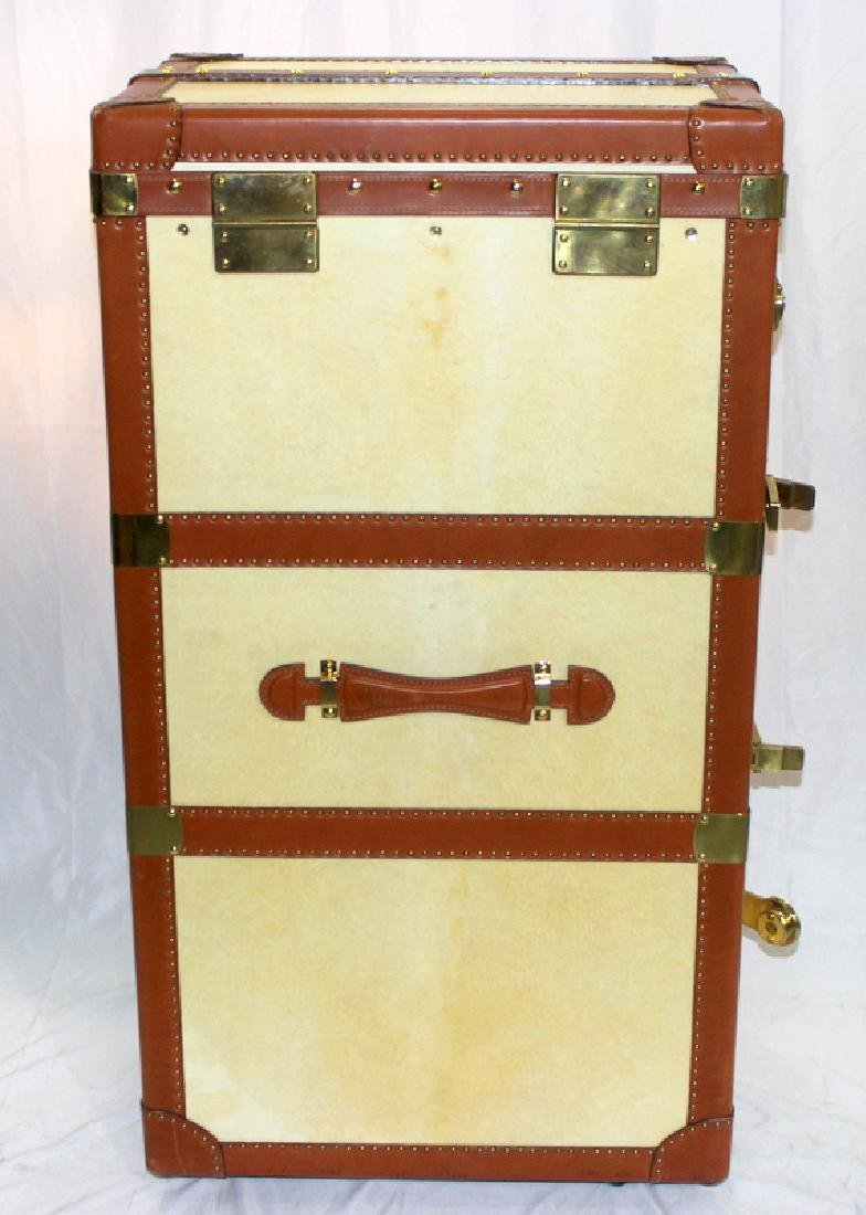 Bergdorf Goodman Mid-Century Leather Travel Trunk