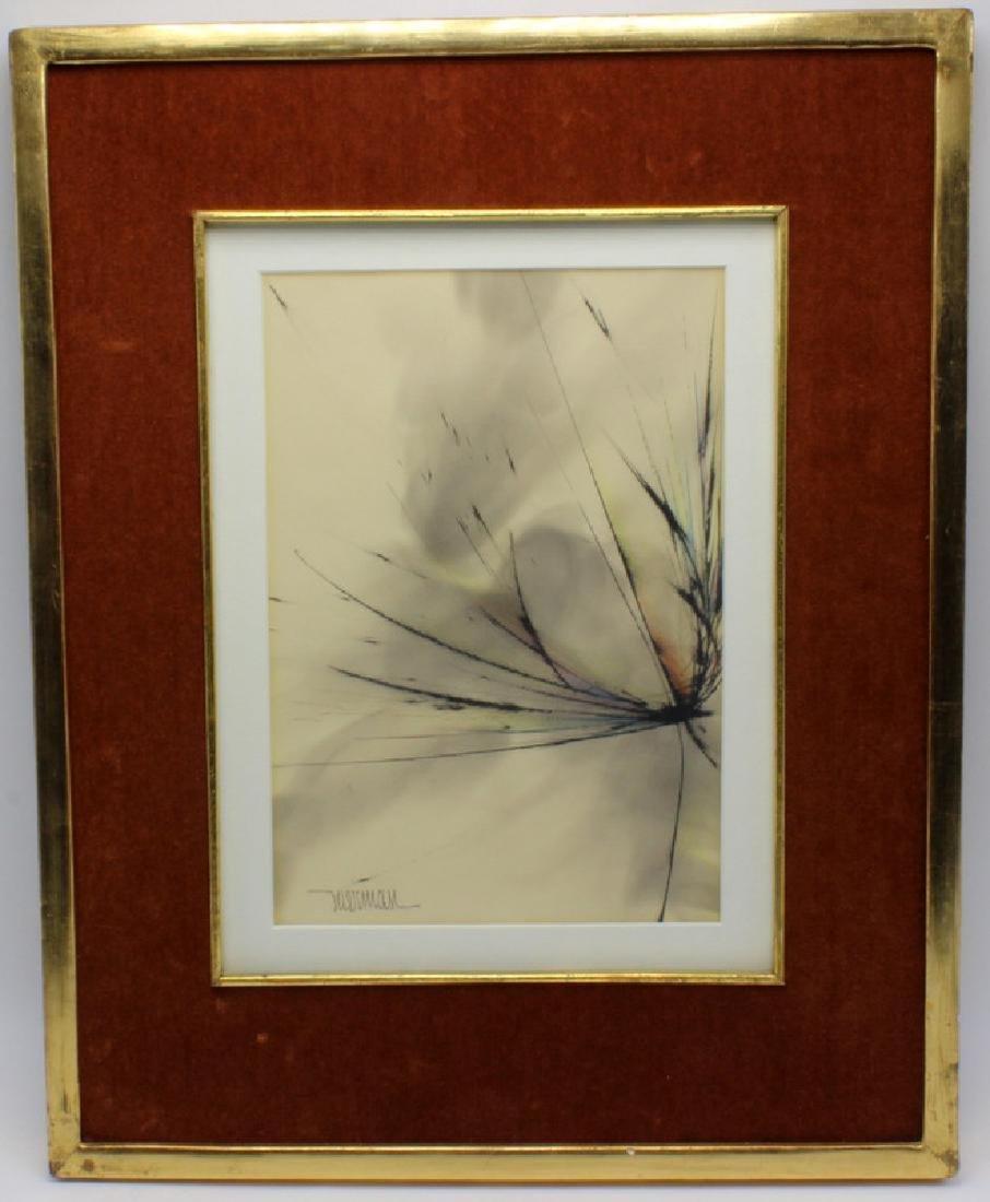 "Leonardo Nierman ""Whirlwind"" Watercolor"