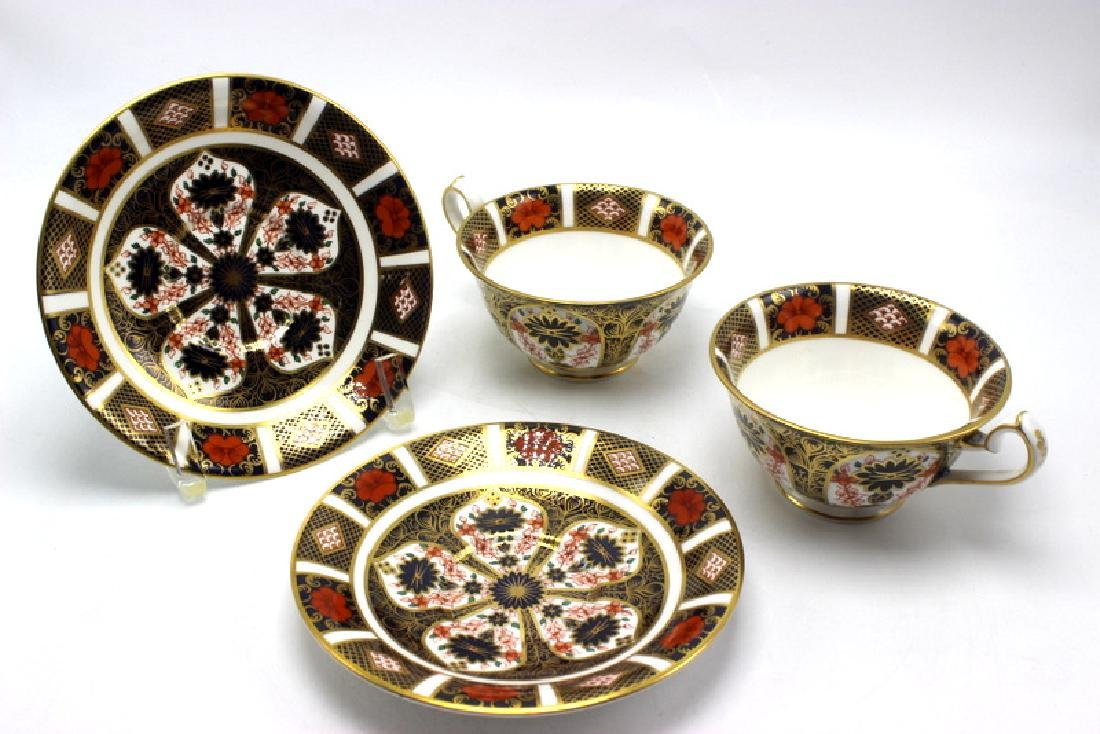 "2-Pair Royal Crown Derby ""Old Imari"" Tea Cups and"