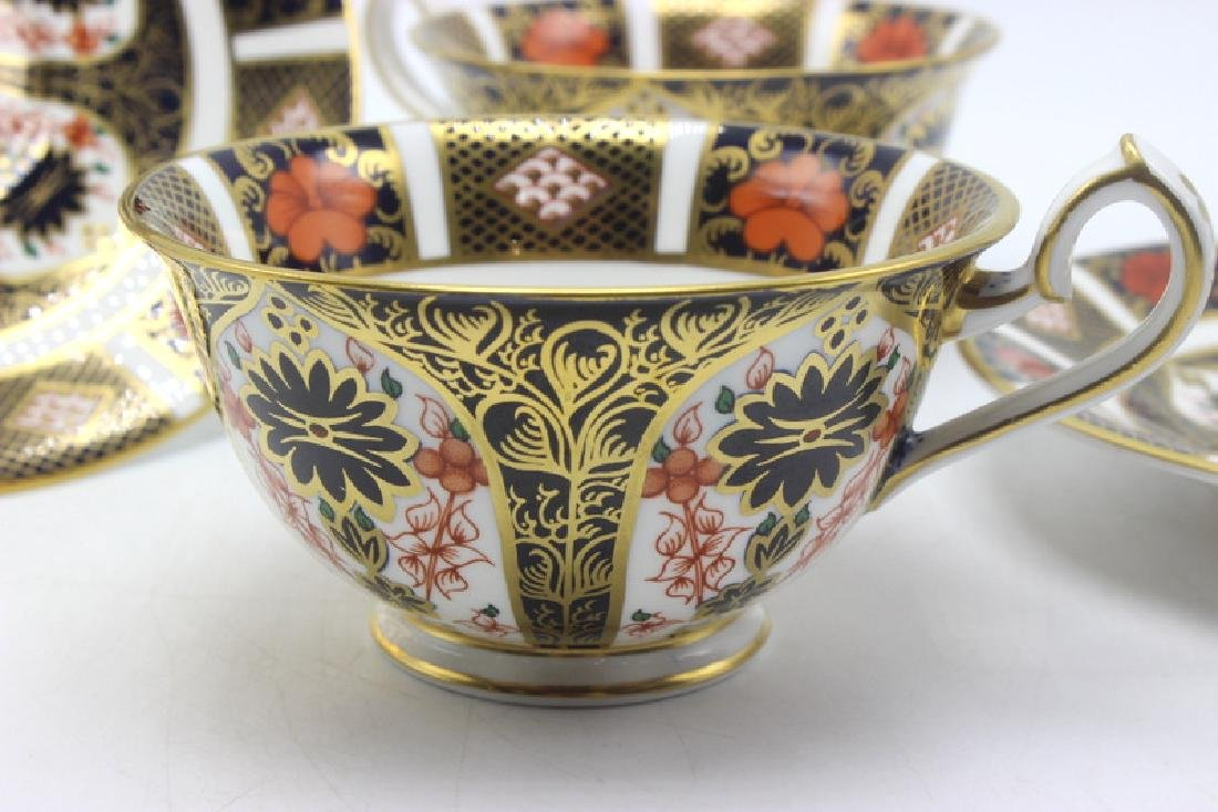"2-Pair Royal Crown Derby ""Old Imari"" Tea Cups and - 3"