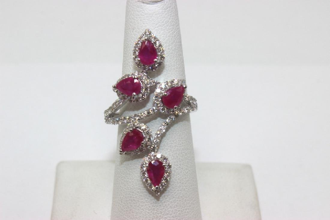 18Kt WG, 2.92 Ruby, .86ct Diamond Ring