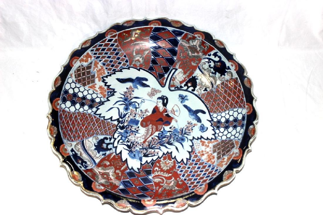 Palace Size Chinese Imari Hand Decorated Charger
