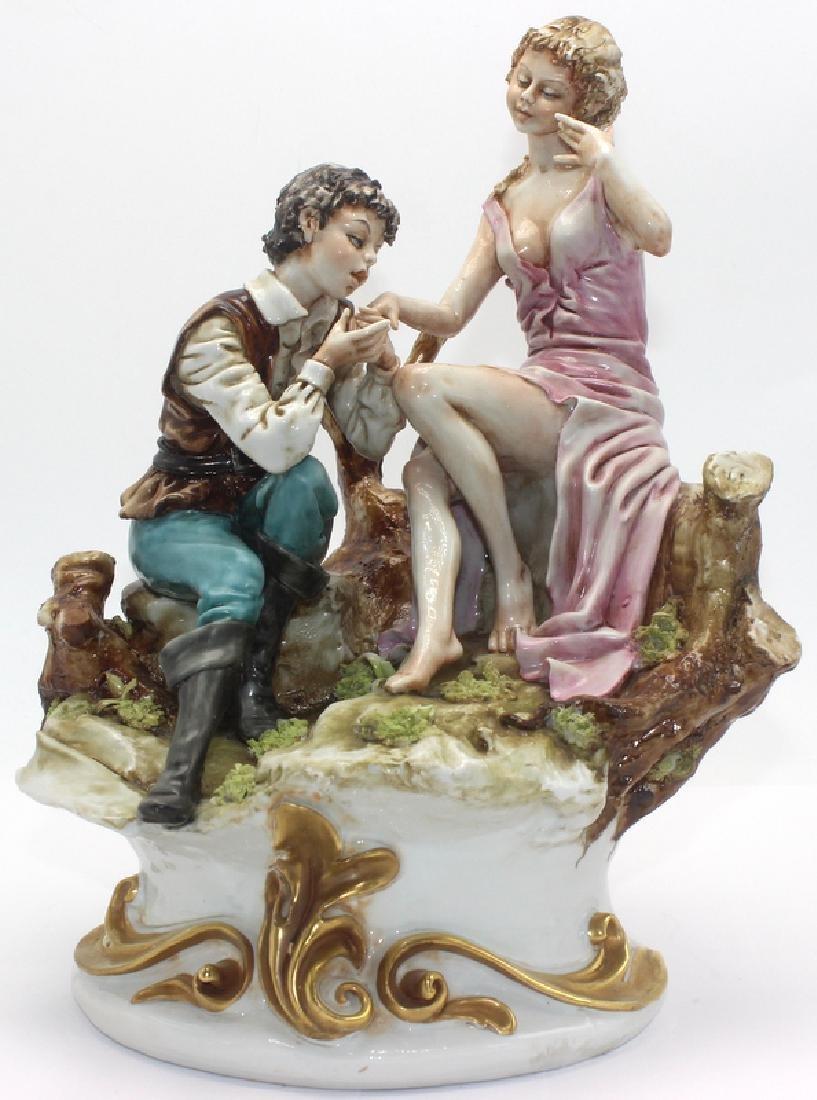 Capo Di Monte Porcelain 2 Figure Group