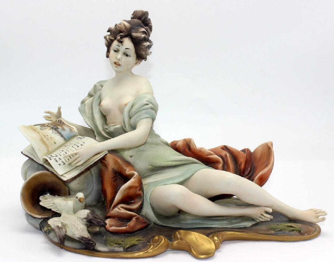 Capo Di Monte Porcelain Figure of Girl