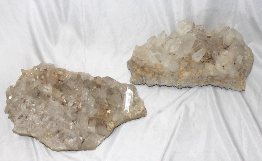 Rock Crystal Quartz (2) Centerpieces