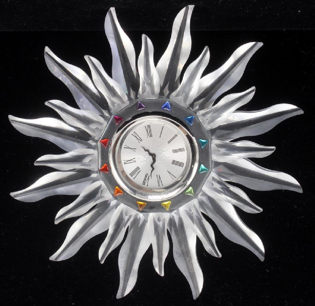 Swarovski Crystal Solaris Table Clock
