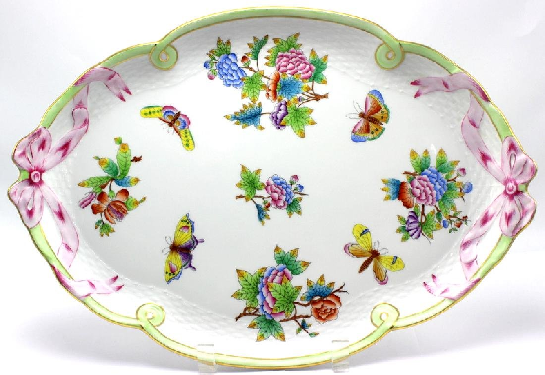 """Herend """"Queen Victoria Ribbon"""" Serving Tray"""