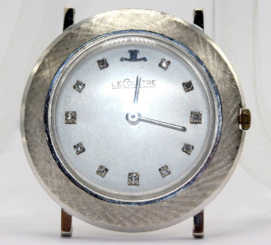 Jaeger-LeCoultre 14Kt WG & 0.12ct. Diamond Watch