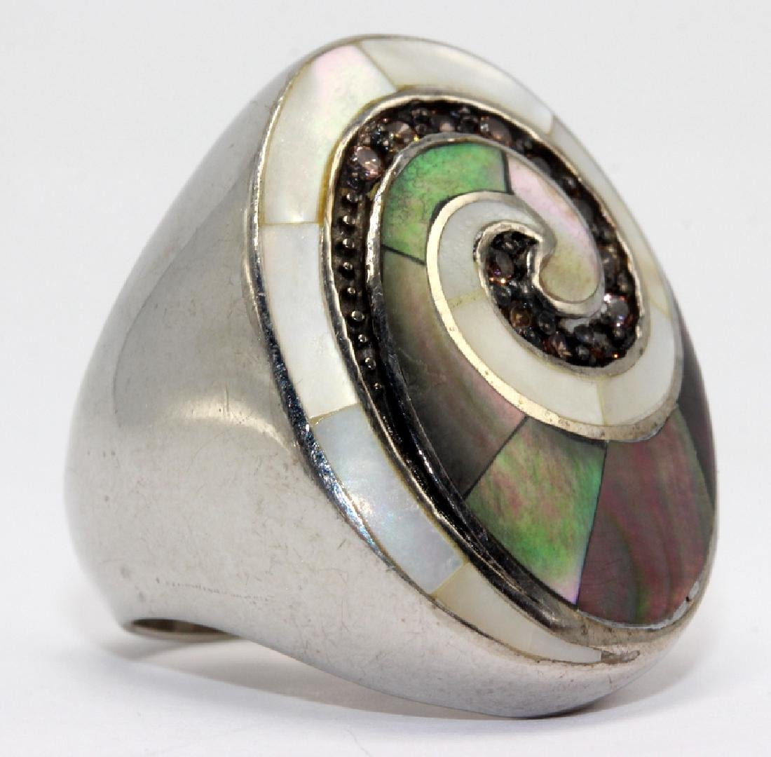 Sterling Silver, M.O.P Ring