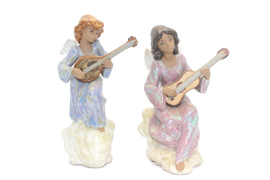 Lladros #2197, #2196 Heavenly Song Angel