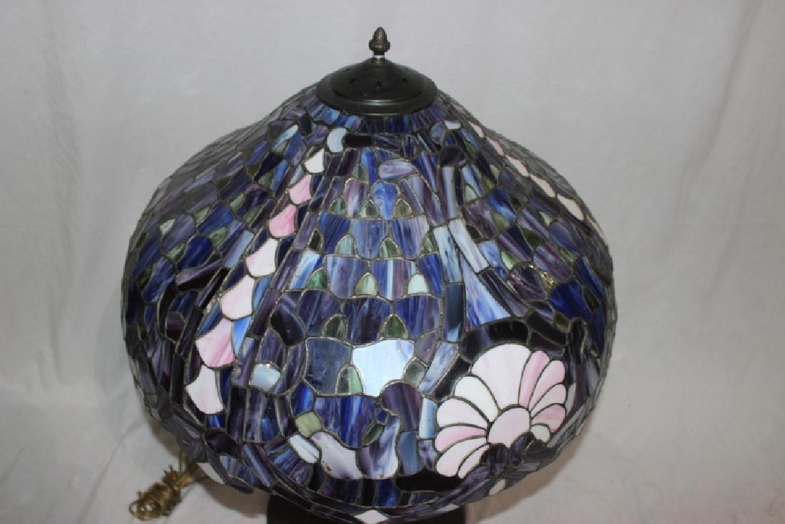 Tiffany Style Art Glass Lamp - 2
