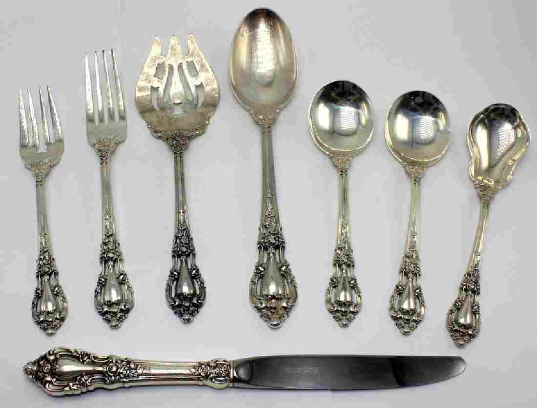 Lunt & Eloquence Sterling Silver Dinner Service for 12