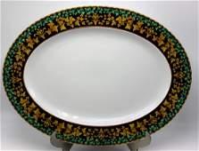 "Rosenthal Versace ""Gold Ivy"" Oval Serving Platter"