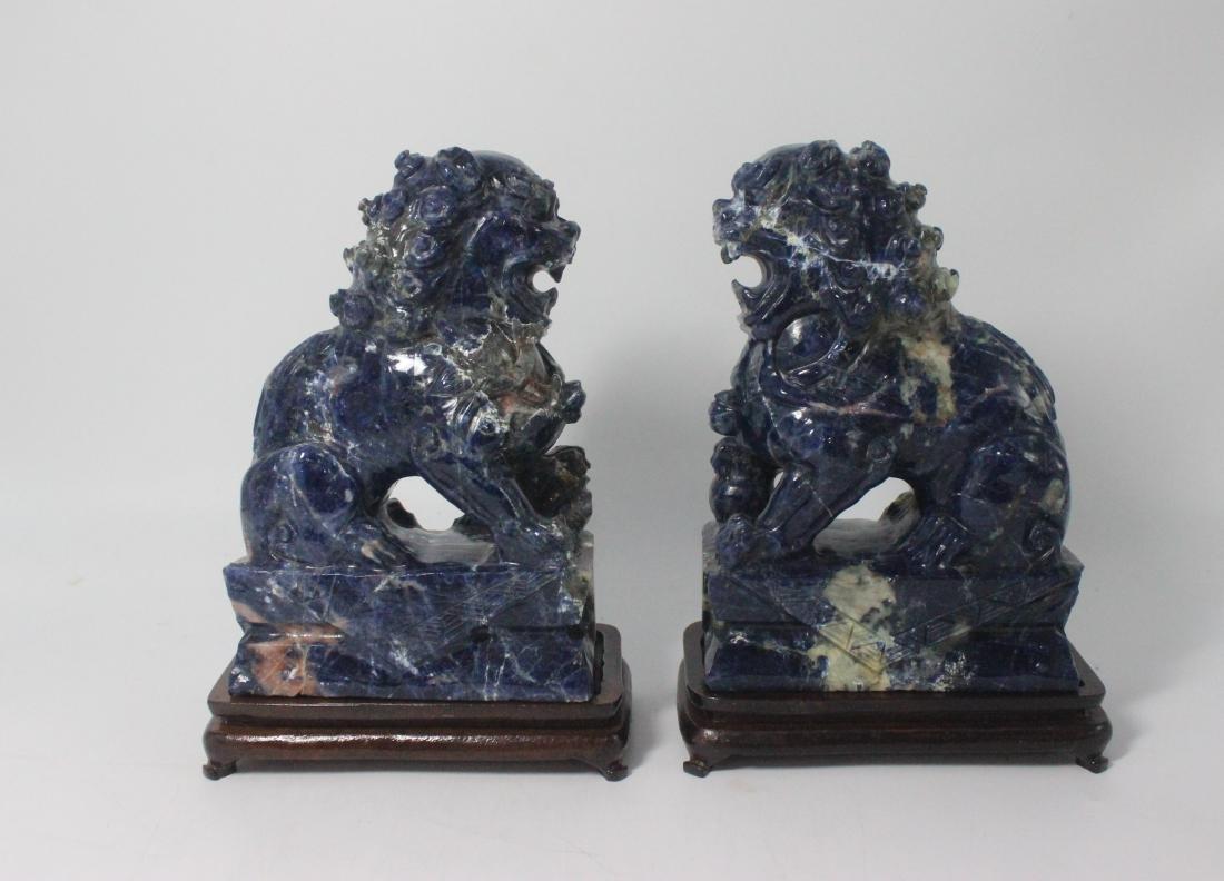 Lapis Lazuli Foo Dogs