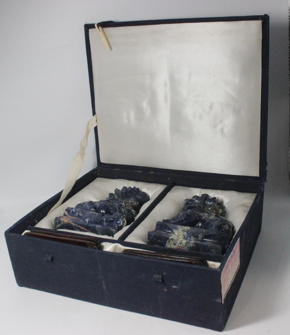 Lapis Lazuli Foo Dogs - 2