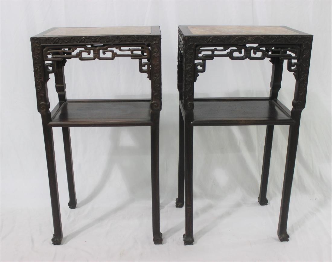 Chinese teak-wood pedestal