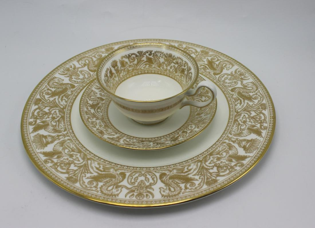Wedgewood gold florentine china set