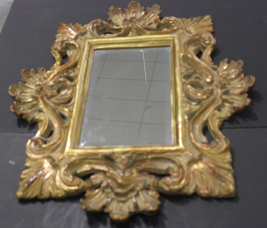 Hand Carved Gold Leaf Mirror