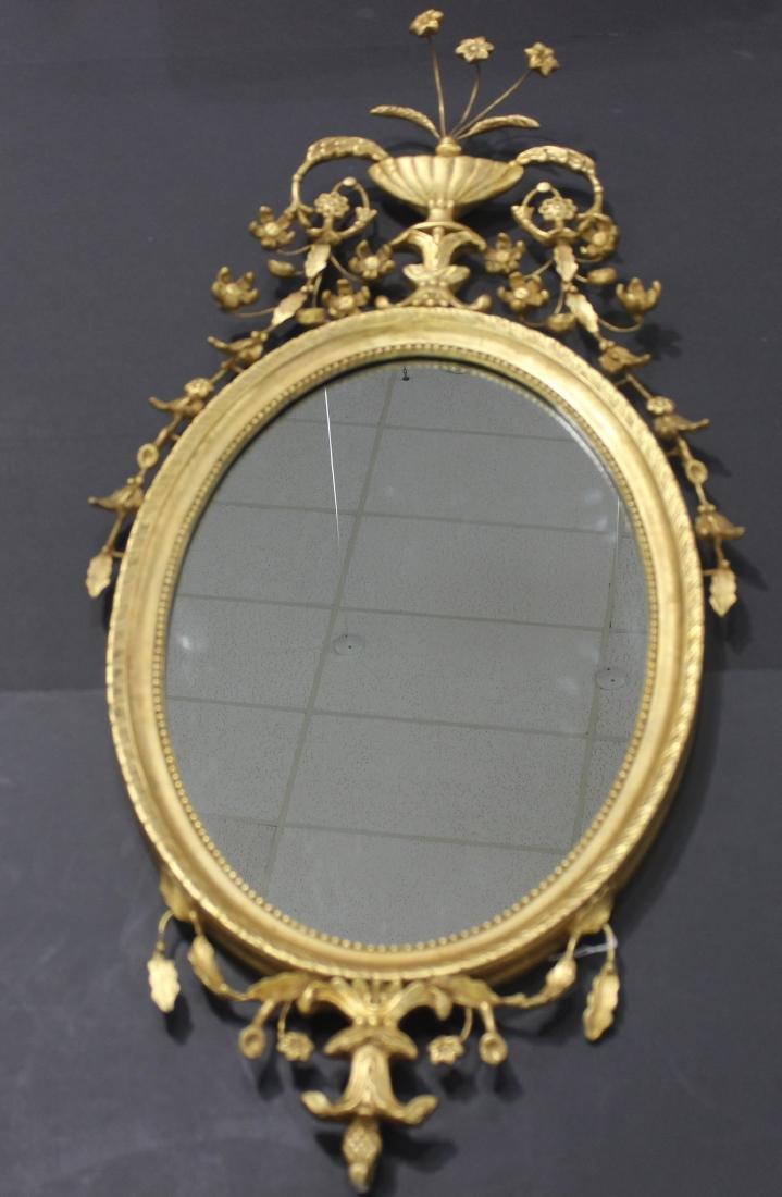 Gold Leaf Oval Mirror
