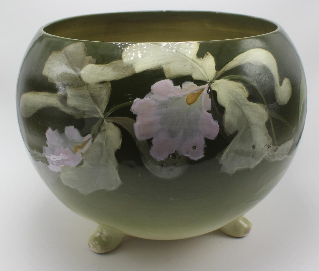 weller art pottery footed jardiniere