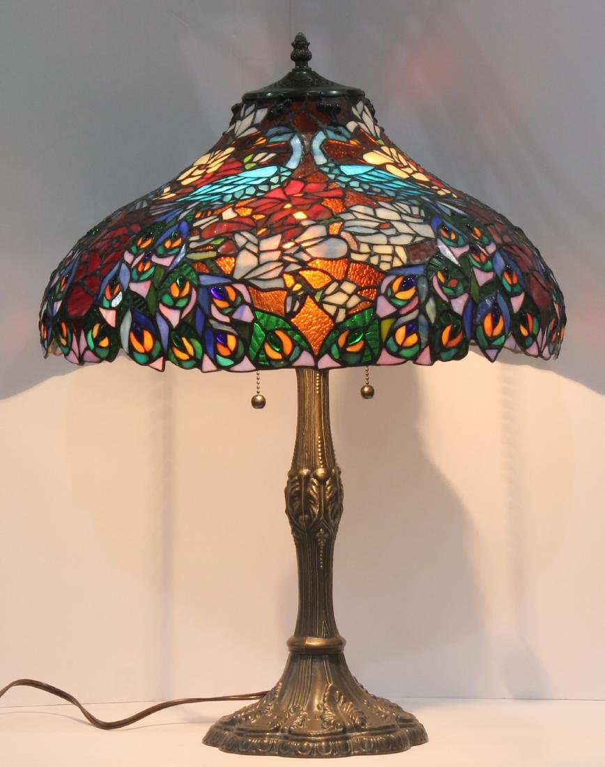 Tiffany Style Stained Glass Bronze Lamp