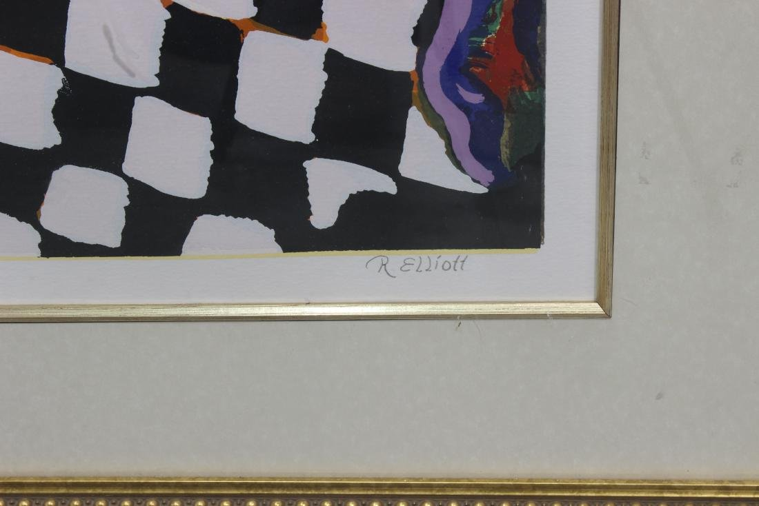 R.Eliott Lithograph - 2